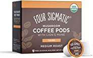 Four Sigmatic Mushroom Coffee K-Cups, Organic and Fair Trade Coffee with Lions Mane, Chaga, & Mushroom Pow