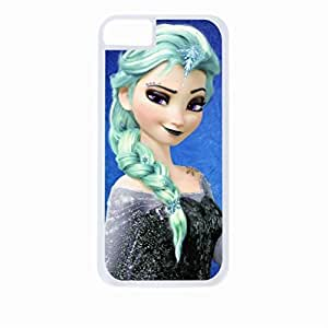 Elsa Punk with Green Hair-Hard White Plastic Snap - On Case with Soft Black Rubber Lining-Apple Iphone 5c Only - Great Quality! by icecream design