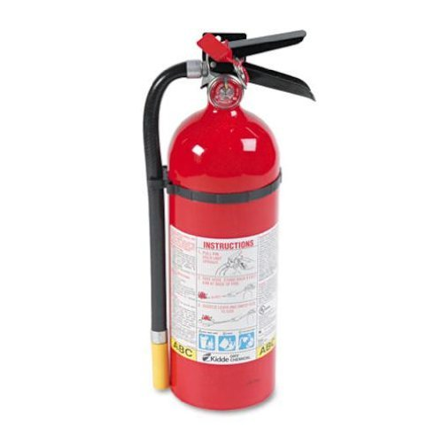 Abc Kidde Extinguisher Fire (Kidde 466112 ABC Pro Multi-Purpose Dry Chemical Fire Extinguisher, UL rated 3-A, 40-B:C, Easy to Read Gauge, Easy to Pull Safety Pin)