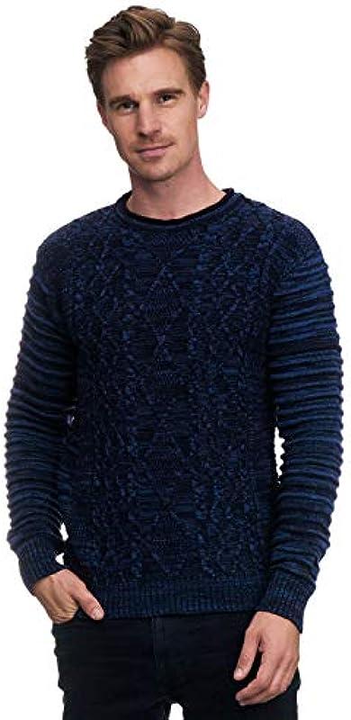 Rusty Neal sweter męski Biker sweter dziany z okrągłym dekoltem grubo dziergany designerski sweter z długim rękawem 357: Odzież