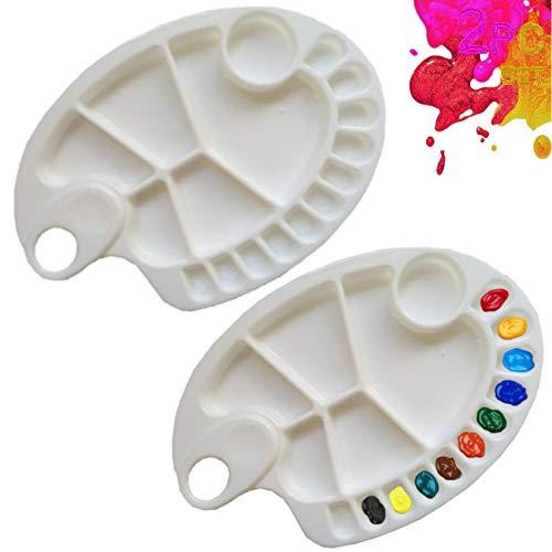 HEP LIFESTYLE Paint Palette   2 Pcs   Premium Artist Palette   Paint Tray   Watercolor Palette   Acrylic Mixing Painting…