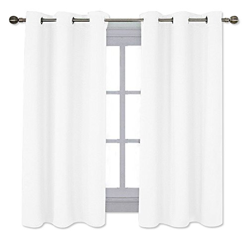 NICETOWN Home Decor Solid Grommet Draperies Curtains, 50% Light Blocking Curtains for Bedroom & Dining Room Window (Set of 2 Panels, 42