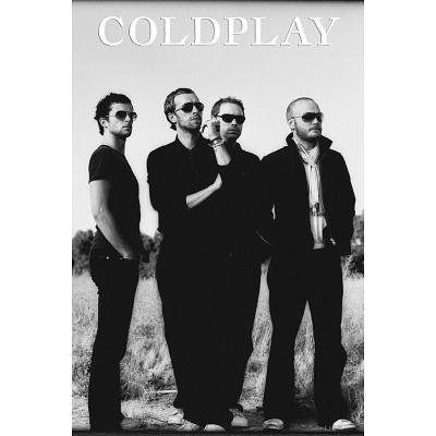 (24x36) Coldplay - Group Black and White Music Poster (Black White Music Posters)