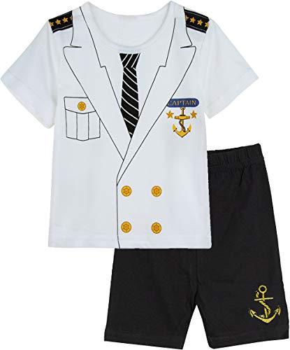 COSLAND Baby Boys Halloween Custome Captain Shorts Set (Captain, 18-24 -
