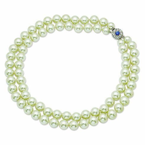 (Jacqueline Jackie Kennedy Double Strand Pearl Necklace in Shell Pearl)