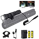 BESTSUN Tactical Flashlight, Zoomable 1200 High Lumens Waterproof Hunting Light with Pressure Switch