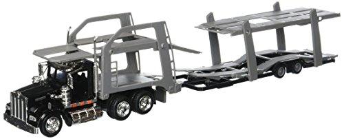 Diecast Transporter - NewRay New Ray 1:43 Kenworth W900 W/Vehicle Transporter Diecast
