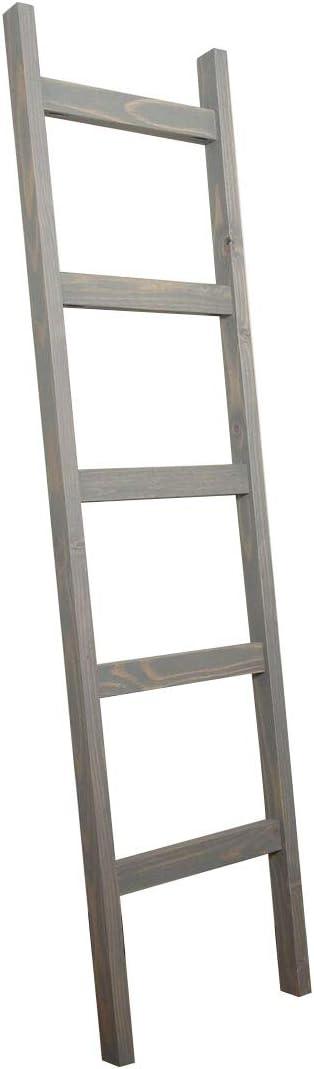 BrandtWorks 204L-CH Chuncky Decorative Blanket Ladder - Gray
