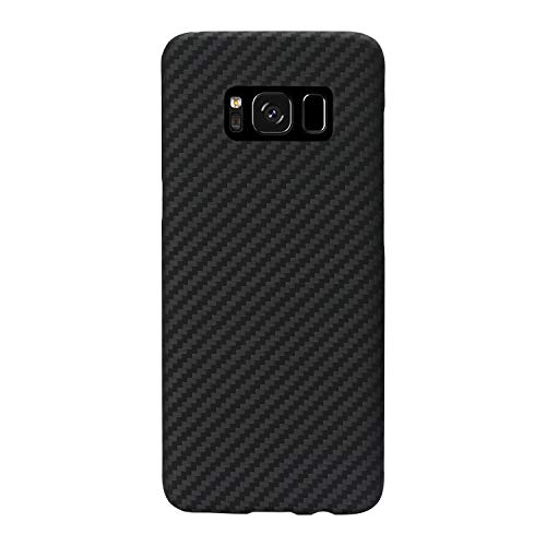 Fiber Galaxy Carbon - PITAKA Minimalist S8 Plus Case, Aramid Fiber[Real Body Armor Material]Super Slim 0.65mm Sturdy Durable Case Protective Snap-on Scratch Resistant Back Cover for Samsung Galaxy S8 Plus Black/Grey Twill
