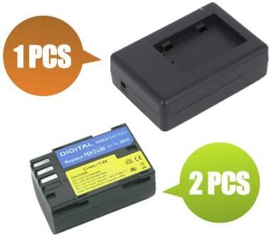 1x Charger Replacement for Pentax K-5 Digital SLR BattPit trade; New 2x Digital Camera Battery 1900 mAh