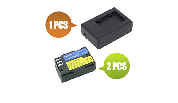 BattPit trade; New 2x Digital Camera Battery 1x Charger Replacement for Pentax D-L190 1900 mAh