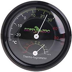 BELONG Reptile Tortoise Vivarium Terrarium Thermometer Thermo-Hygrometer Humidity Gauge L15