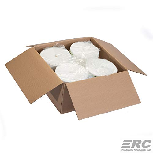 ERC Wiping Products Jumbo Rolls Antibacterial Equipment & Hand Wipes 4 Pack (8000 Wipes) by ERC Wiping Products (Image #1)