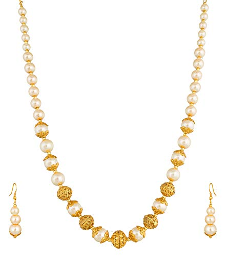 738cddfc4b6ef The Luxor Bridal Jewellery Haram Mala Pearl Necklace Set for Women and Girls