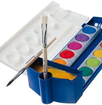 Pelikan tusch Buzón Juego completo de incl. 2 x Bloc de dibujo (DIN A3 2 x 20 hojas, 720250 K12 – Estuche, 12 colores + 1 Tubo de blanco opaco (estándar escolar),