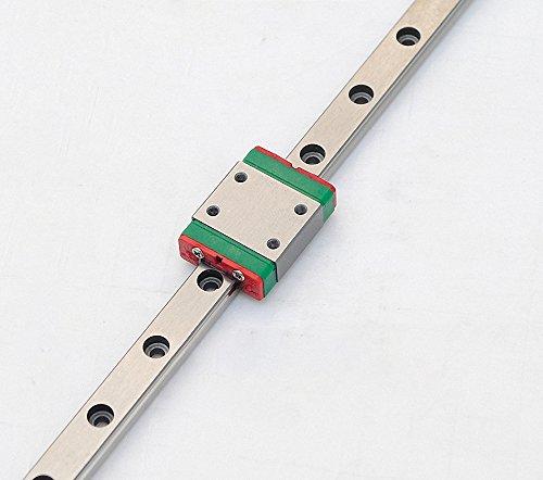 TEN-HIGH linear rail, 1pcs CNC Parts MR7 MGN7 Miniature Linear Guide Rail Way Slide 700mm+1pcs MGN7C Slider Miniature Linear Motion Guide Way