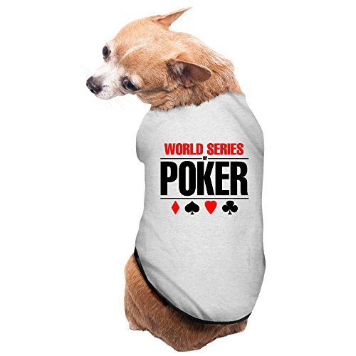 [Gray World Series Of Poker TAB WSOP Las Vegas Pet Supplies Dog Costume Puppy Jacket] (Bungle Costume)