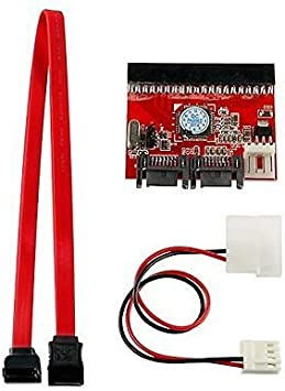 """Bundle Deal 18/"""" SATA Cable Red Converts SATA HD interface to IDE connector"""