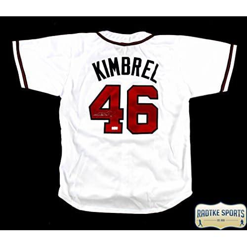 brand new 9cd69 4c5d2 Craig Kimbrel Autographed/ Signed Atlanta Braves White ...