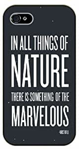 For Samsung Galaxy S5 Mini Case Cover In all the things of nature there is something of the marvelous. Aristotele- Black plastic case / Inspirational and motivational life quotes / SURELOCK AUTHENTIC