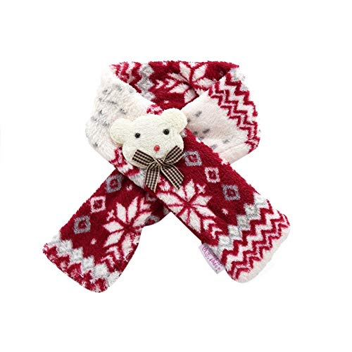 Stock Show 1Pc Pet Christmas Scarf Warm Dog Cat Scarf Snowflakes Patter Printed Cute Litter Bear Decor Dog Cat Xmas…