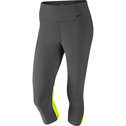 Women's Nike Legend 2.0 Poly Tight Fit Training Capri Ash/Volt/Black Size Small