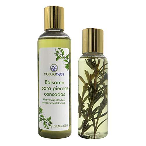 Naturaness Aceite para masaje corporal, Balsamo para piernas cansadas a base de extractos herbales 100% naturales 125 ml....