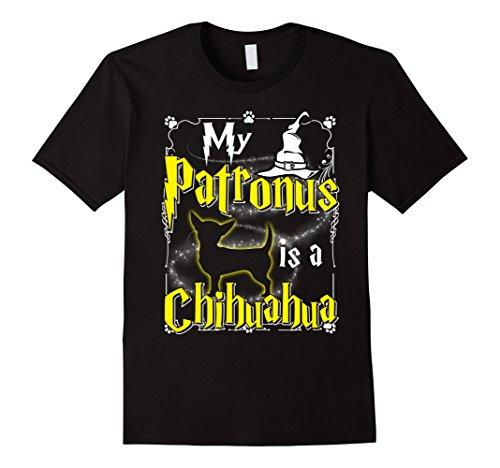 Mens My Patronus Is A Chihuahua T-shirt Chihuahua Lovers Medium (Halloween Trick Or Treat Night 2017)