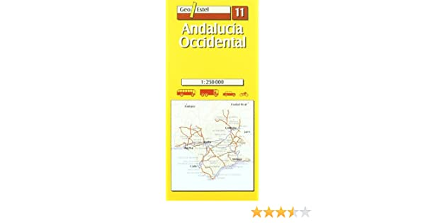 Andalucía Occidental: Andalucia Occidental Road Map 1:250, 000 ...
