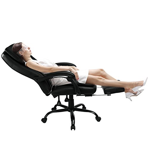 417MJryYc5L - GTracing Office Chair Executive chair Ergonomic design PU Leather Manager Chair Black