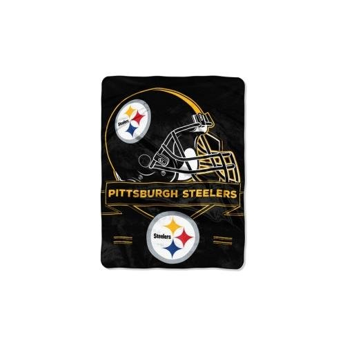 (The Northwest Company NFL Pittsburgh Steelers Prestige Plush Raschel Blanket, 60