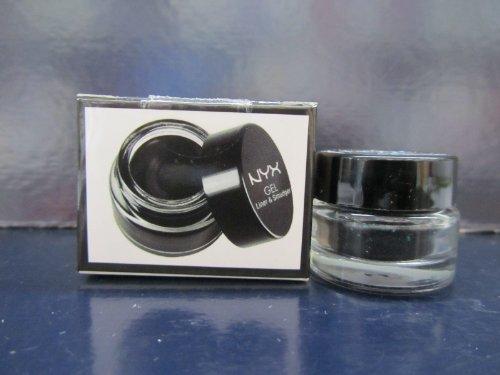 NYX Gel Liner & Smudger color GLAS01 Betty Jet Black 0.11 oz Sealed