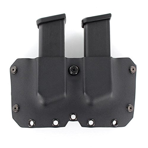 R&R Holsters OWB Double MAG Holster - Black (Left-Hand - Bullets Forward, Kahr CW45/PM45) (Kahr Cw45 Mag)
