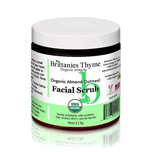 Organic Almond Oatmeal Facial Scrub ()