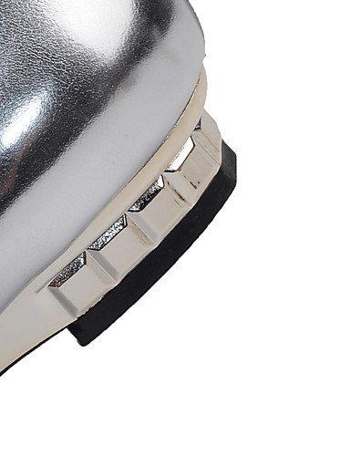 GGX/ Damenschuhe-High Heels-Outddor / Büro / Lässig-PU-Keilabsatz-Wedges / Spitzschuh-Lila / Weiß / Silber white-us8 / eu39 / uk6 / cn39