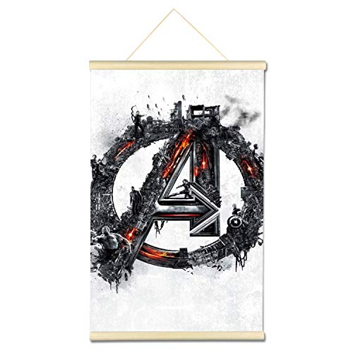 DIY 5D Full Drill Diamond Hanging Painting Kits for Adults Kids, Crystal Rhinestone Diamond Embroidery Paintings Arts Craft Home Wall Decor (Avengers, 16x24 Inch)
