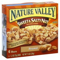 Nature Valley Sweet & Salty Nut Granola Bars, Peanut 7.4 oz (pack of 3)