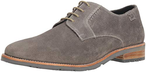 Ben Sherman Men's Rugged Leather Ox Oxford, Grey Suede, 11 M US ()