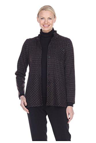 - Terra-Sj Apparel Women's 3/4 Length Sleeve Button Down Jacket Convertible Collar