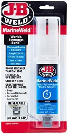 J-B WELD Epoxy,Marine Cold Weld,Dk Gry,2 oz 8272 3 Pack