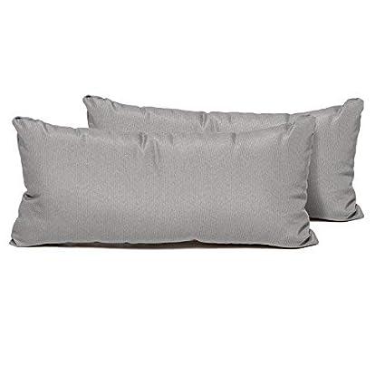 Outdoor Pillows Set Of 2.Tk Classics Pillow Grey R 2x Rectangle Outdoor Throw Pillows Set Of 2 Grey