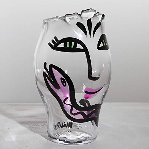 - Kosta Boda Open Minds Vase, Clear/Pink