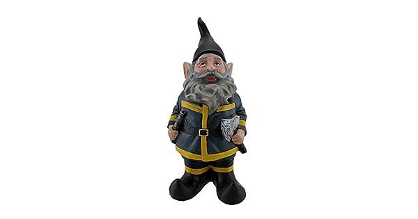 Amazon.com: Bombero Gnome: Jardín y Exteriores