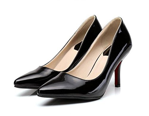 Easemax Donna Elegante Stiletto Punta A Punta Slip On Tacco Alto Scarpe Da Ufficio Tacco Alto Scarpe Nere