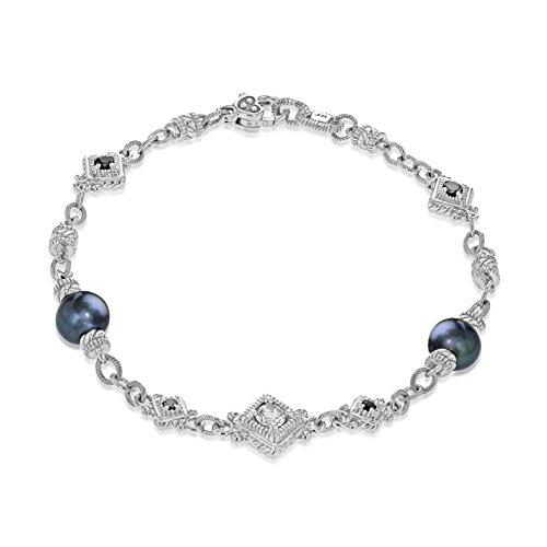 JUDITH RIPKA femme  Argent 925/1000  Argent|#Silver Rond   Gris Hämatit Kristall