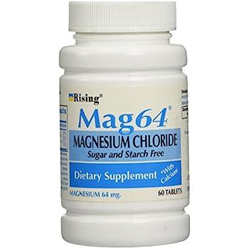 Wonder Laboratories 60 Count, Rising Mag64 Magnesium Chloride with Calcium Tablets