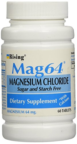 Wonder Laboratories 60 Count, Rising Mag64 Magnesium Chloride with Calcium Tablets (Magnesium Chloride Tablets)