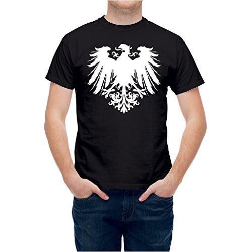 T shirt Heraldic Eagle Insignia Emblem Shield Black -