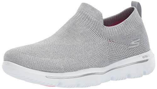Skechers Women's GO Walk Evolution ULTRA-15746 Sneaker Silver 9.5 M US