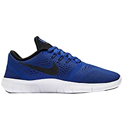 Nike Kid\'s Free Rn GS, GAME ROYAL/BLACK-WHITE, Youth Size 6
